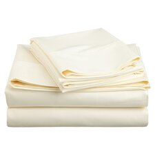 <strong>Simple Luxury</strong> Cotton Rich 600 Thread Count Solid Sheet Set