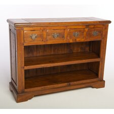 East Indies Open Bookcase with Drawers