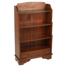 Mahogany Village Waterfall Bookcase