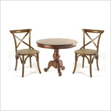 Mahogany Village 3 Piece Dining Set