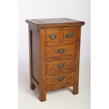 East Indies 5 Drawer Chest