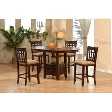 <strong>Primo International</strong> 5 Piece Counter Height Dining Set