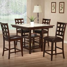 Mystic 5 Piece Counter Height Dining Set