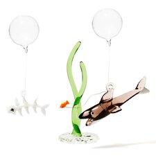 3-tlg. Hai-, Fischgräten- und Seegrasset Mare