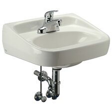 Standard Arm Bathroom Sink with Half Pedestal