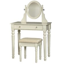 Lorraine Vanity Set in White