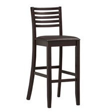 "Triena 30"" Ladder Bar Stool in Rich Espresso"