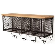 4 Basket Wall Organizer Shelf II