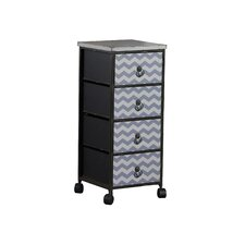 Chevron Wheel 4 Drawer Chest