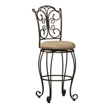 "Gathered 30"" Swivel Bar Stool"