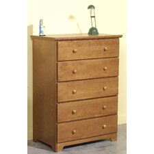 Shutter 5 Drawer Bedroom Chest