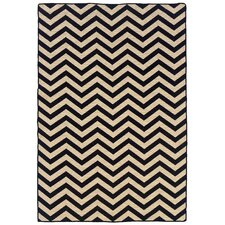 Salonika Black Chevron Rug