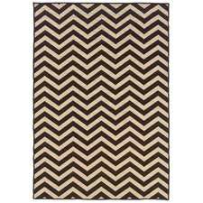 Salonika Brown Chevron Rug