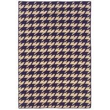 Salonika Purple/Beige Houndstooth Area Rug