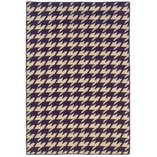 Salonika Purple Houndstooth Rug