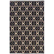 Salonika Black Ikat Area Rug