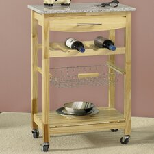<strong>Linon</strong> Ledgeview Kitchen Cart with Granite Top