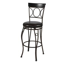 "30"" Circles Back Bar Stool in Brown and Black"