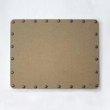 BURLAP CORKBOARD WITH NAILHEAD TRIM
