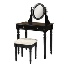 <strong>Linon</strong> Lorraine Vanity Set with Mirror