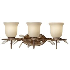 Priscilla 3 Light Bath Vanity Light with Glass Shade