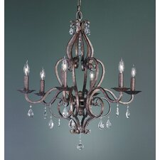 <strong>Feiss</strong> Mademoiselle 6 Light Chandelier