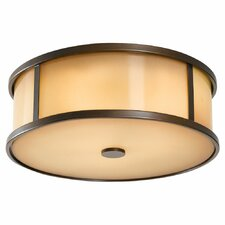 <strong>Feiss</strong> Dakota 3 Light Outdoor Flush Mount