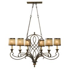 <strong>Feiss</strong> Justine 6 Light Chandelier