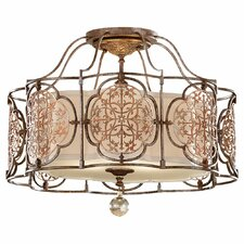 <strong>Feiss</strong> Marcella 3 Light Semi Flush Mount