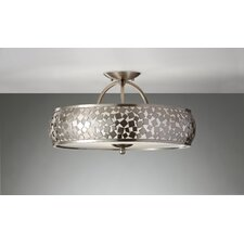 Zara 3 Light Semi Flush Mount