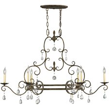 <strong>Feiss</strong> Chateau 6 Light Kitchen Island Pendant