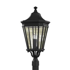 "Cotswold Lane 3 Light 12"" Outdoor Post Lantern"
