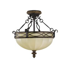 Edwardian Small Semi Flush Mount