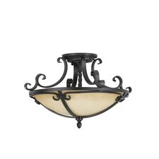 Colonial Manor Semi Flush Mount