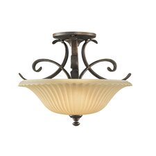 <strong>Feiss</strong> Somerset 2 Light Semi Flush Mount