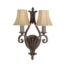 <strong>Feiss</strong> Tuscan Villa 2 Light Wall Sconce Lamp