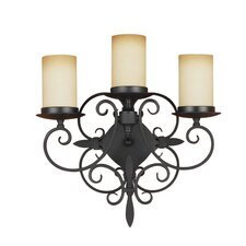 <strong>Feiss</strong> Colonial Manor 3 Light Wall Sconce