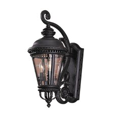 Castle 3 Light Outdoor Wall Lantern