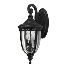 English Bridle 3 Light Outdoor Wall Lantern