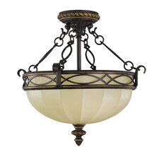 Edwardian 3 Light Semi Flush Mount