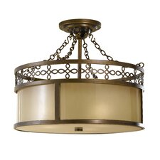 Justine 3 Light Semi Flush Mount