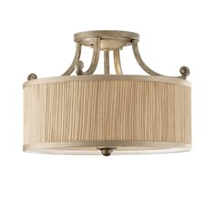 Abbey 3 Light Semi Flush Mount