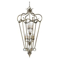 Smokey Topaz 9 Light Cage Foyer Pendant