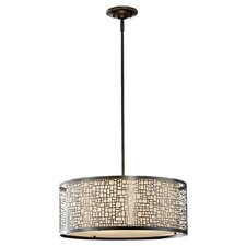 Joplin 3 Light Drum Pendant