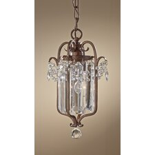 "Gianna Scuro 1 Light 12.8"" Mini Duo Chandelier"