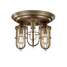 Urban Renewal 3 Light Flush Mount