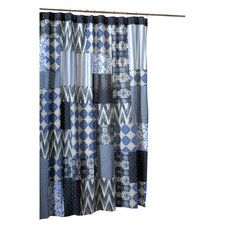 Santorini Patchwork Shower Curtain