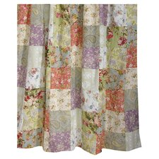 Blooming Prairie Patchwork Shower Curtain