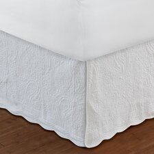 Paisley Quilted Bed Skirt