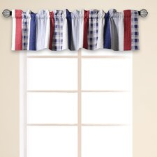 "Nautical Stripe Quilted 84"" Curtain Valance"